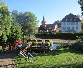 Alsace Wine Road cycle trail from Strasbourg to Colmar