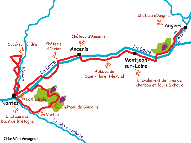 *For groups* Angers to Nantes, 6 days along the Loire River