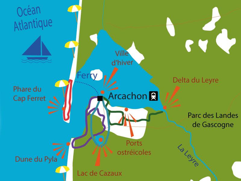 Landes A Velo Vacances A Velo Sur Le Bassin D Arcachon Le Velo Voyageur