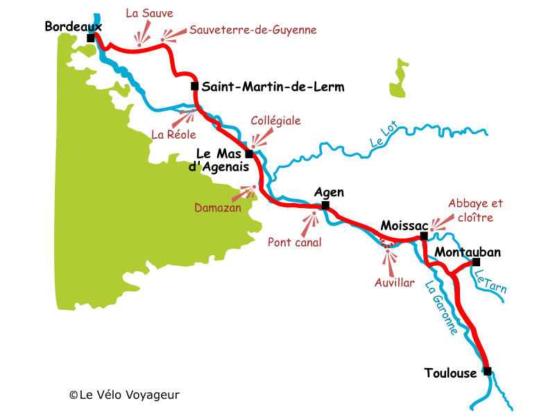 Cycling the Canal de Garonne from Bordeaux to Toulouse Le Vlo