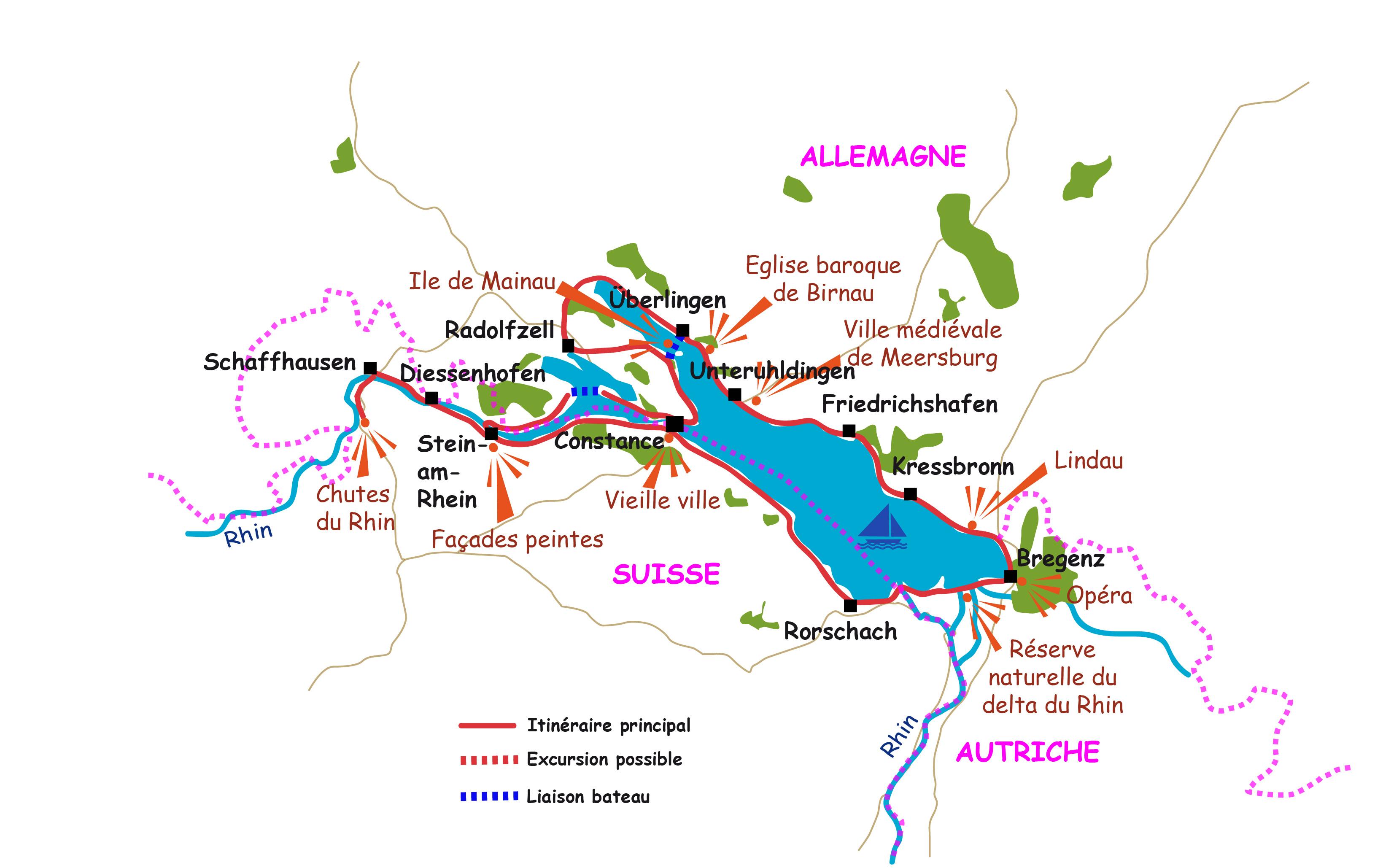 Plan De La Ville De Constance