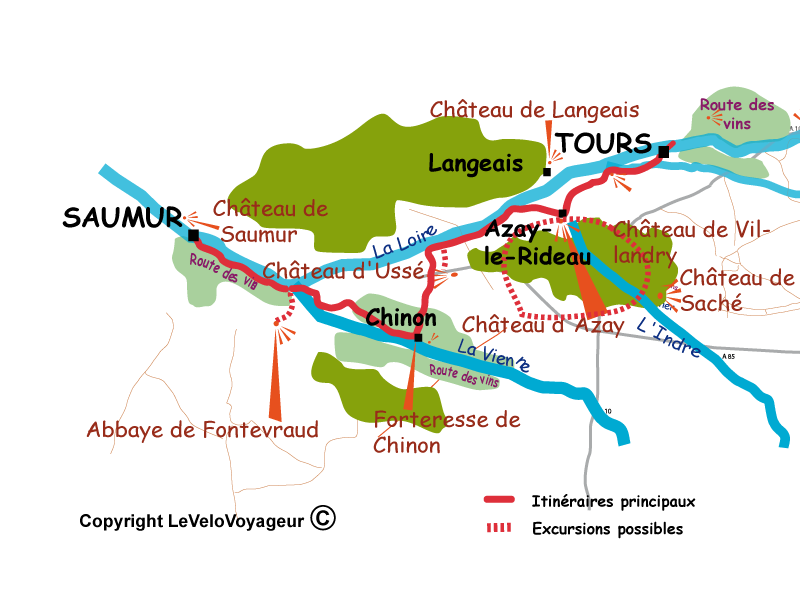 Cycle Tour In Loire 3 Days Along The Loire Valley From Tours To