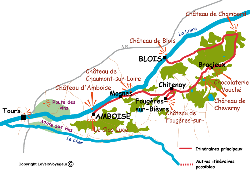 Amboise France Map.Loire Valley By Bike A Cycling Week In Family Le Velo Voyageur
