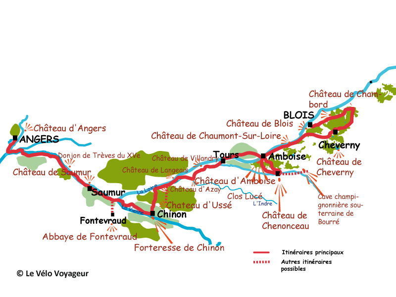 Cycling Loire Along the Loire valley from Blois to Angers sportif