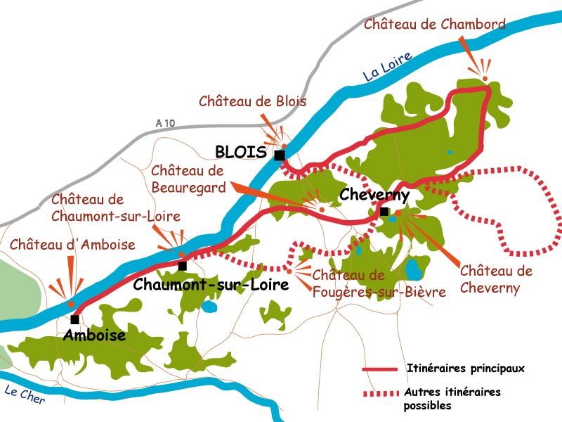Amboise France Map.Loire Valley 3 Day Bike Trip In Loire Valley A Cycling Tour