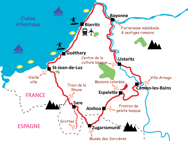 Basque France Map.3 Day Bike Trip In The Heart Of The Basque Country I Le Velo Voyageur