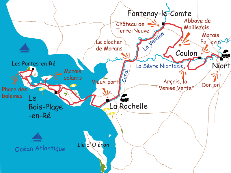 Ile de R Cycle tour from Poitevin Marshes to Ile de R Le Vlo