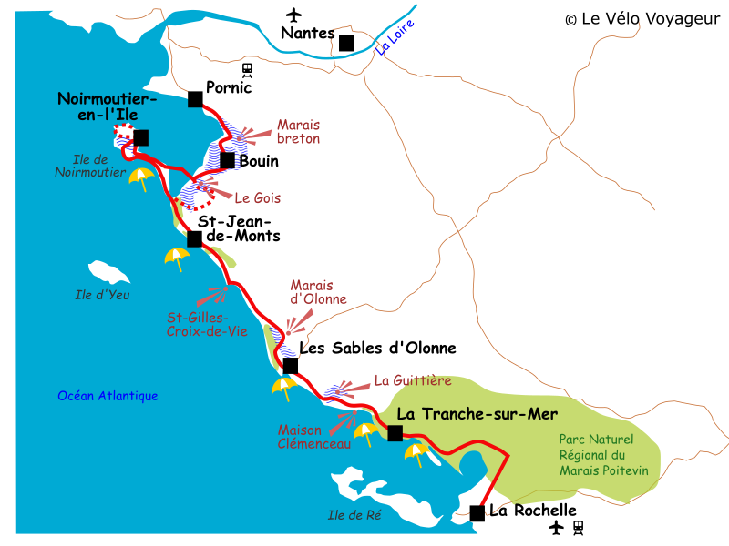 The Atlantic cycle route from Pornic to La Rochelle | Le Velo Voyageur